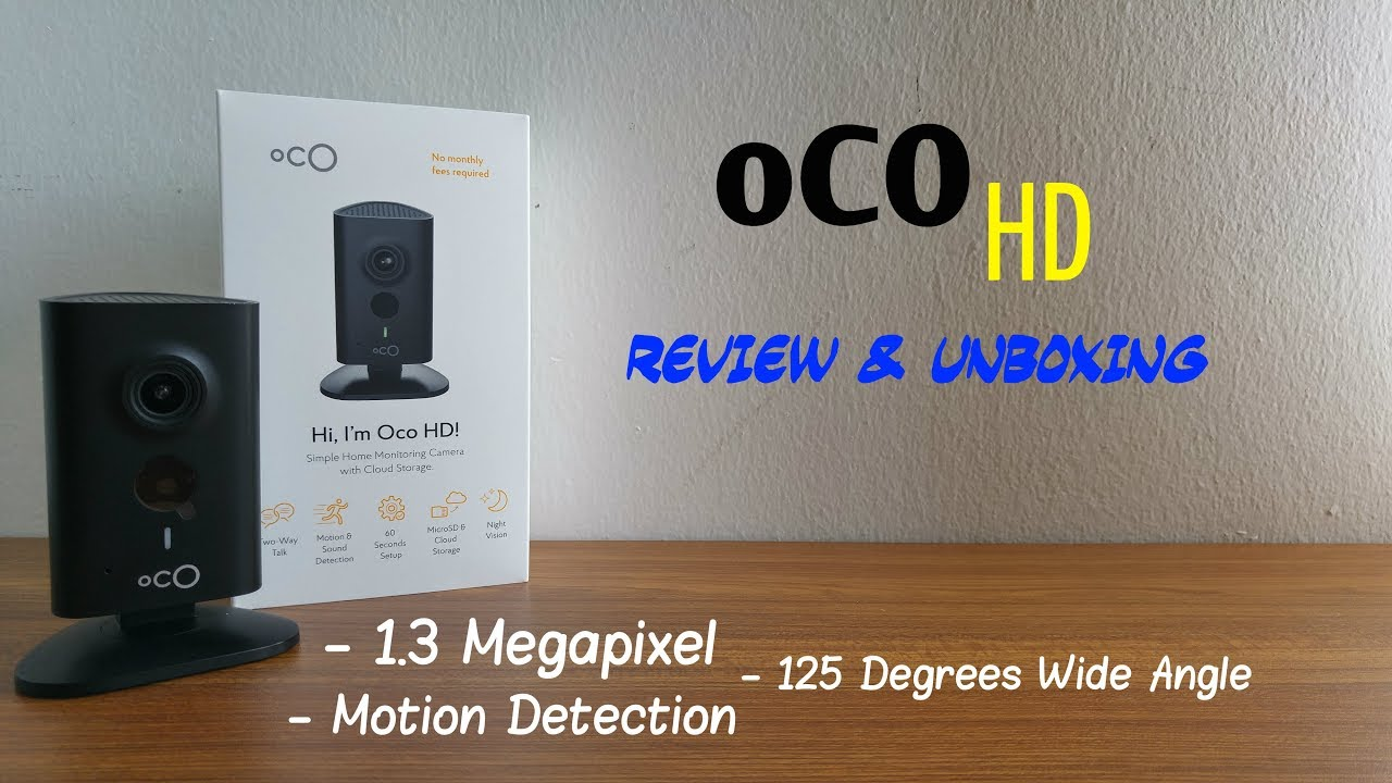 Oco HD Smart Wifi Camera - Review & Unboxing [HD]