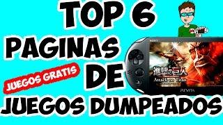 PSVITA | TOP 6 | PAGINAS DONDE DESCARGAR JUEGOS DUMPEADOS | FUNCIONAL |