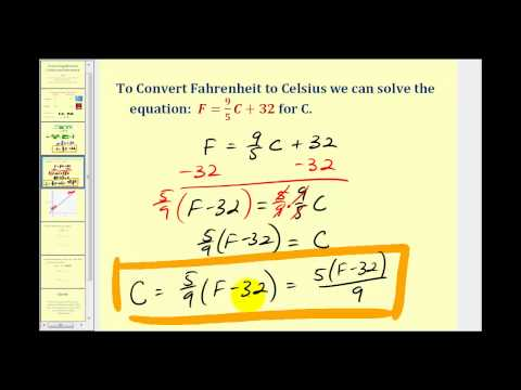 Converting Temperature Between Celsius and Fahrenheit