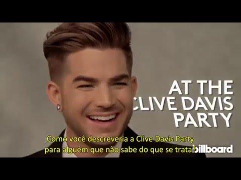 "Adam Lambert - Entrevista da Billboard na Festa ""Pre-GRAMMY de Clive Davis"" (14/02/2016) - legendado"