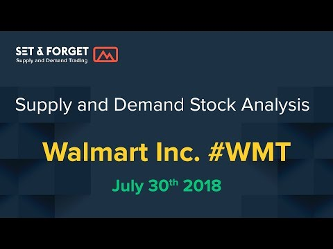 Walmart WMT american stock supply and demand analysis July 30th 2018