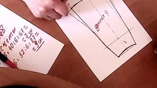 видео Выкройка юбки шестиклинки