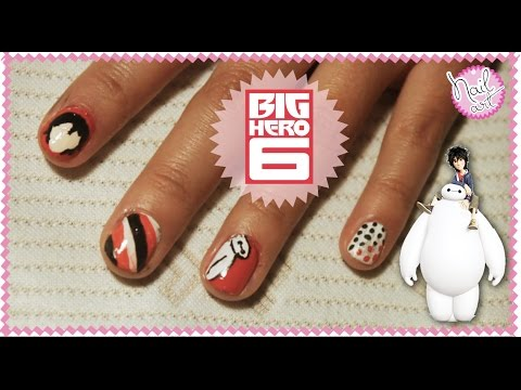 Big Hero 6 Inspired Nail Art Tutorial Big Hero 6 Video Fanpop