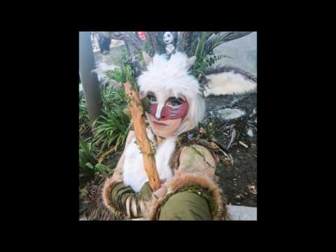 Forest Spirit Makeup Application Princess Mononoke Cosplay By