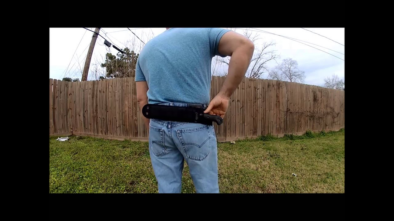 how to make a scout carry sheath