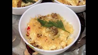 Отличный порционный салат с курицей и ананасами