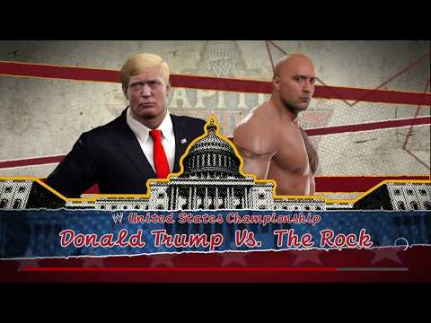 WWE 2K17 The Rock VS Donald Trump Requested 1 VS 1 TLC Match United States Title