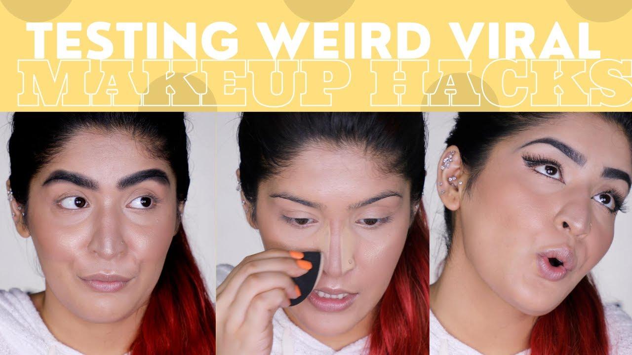 Testing Weird Viral Makeup Hacks | Major Fail? | Shreya Jain