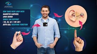 Spy magnetic earpiece with 4.5 watts Tabiz neckloop -spy earphone for secret communication.