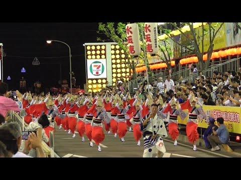 徳島・阿波踊り 水玉連 「流し踊り」 市役所前演舞場 2016年 Awa-odori (Awa dance) in Tokushima