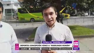 TRIUNFO DE DEPORTES CONCEPCIÓN A RODELINDO ROMAN