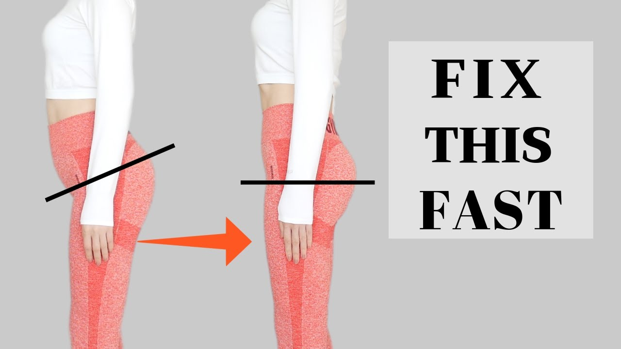 Fix Anterior Pelvic Tilt IN 30 DAYS | 8 MIN Exercise/ Daily, Relieve Lower Back Pain & Look Taller!