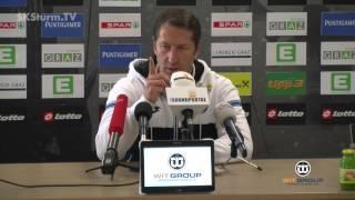 SK Sturm: Mediabriefing vor SK Rapid Wien (14. Runde 2015/16)