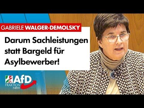 Geldleistungen befördern Armutsmigration! – Gabriele Walger-Demolsky (AfD)