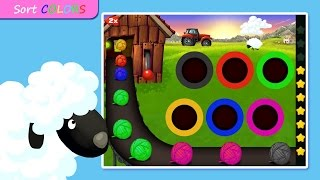 My Shapes Colors Farm Puzzle - Educational Education -  Videos Games for Kids - Girls - Baby