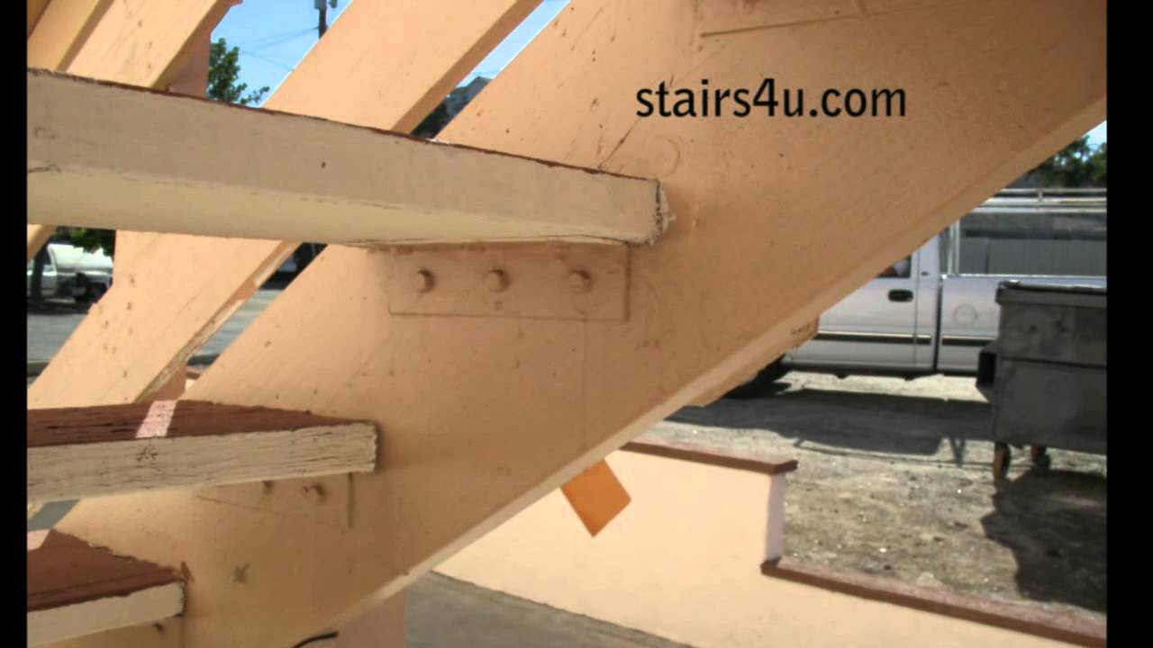 Four Methods For Attaching Wood Treads To Stair Stringers Youtube   Exterior Wood Stair Treads   Anti Slip   90 Degree   Step   Solid Stringer   Deck