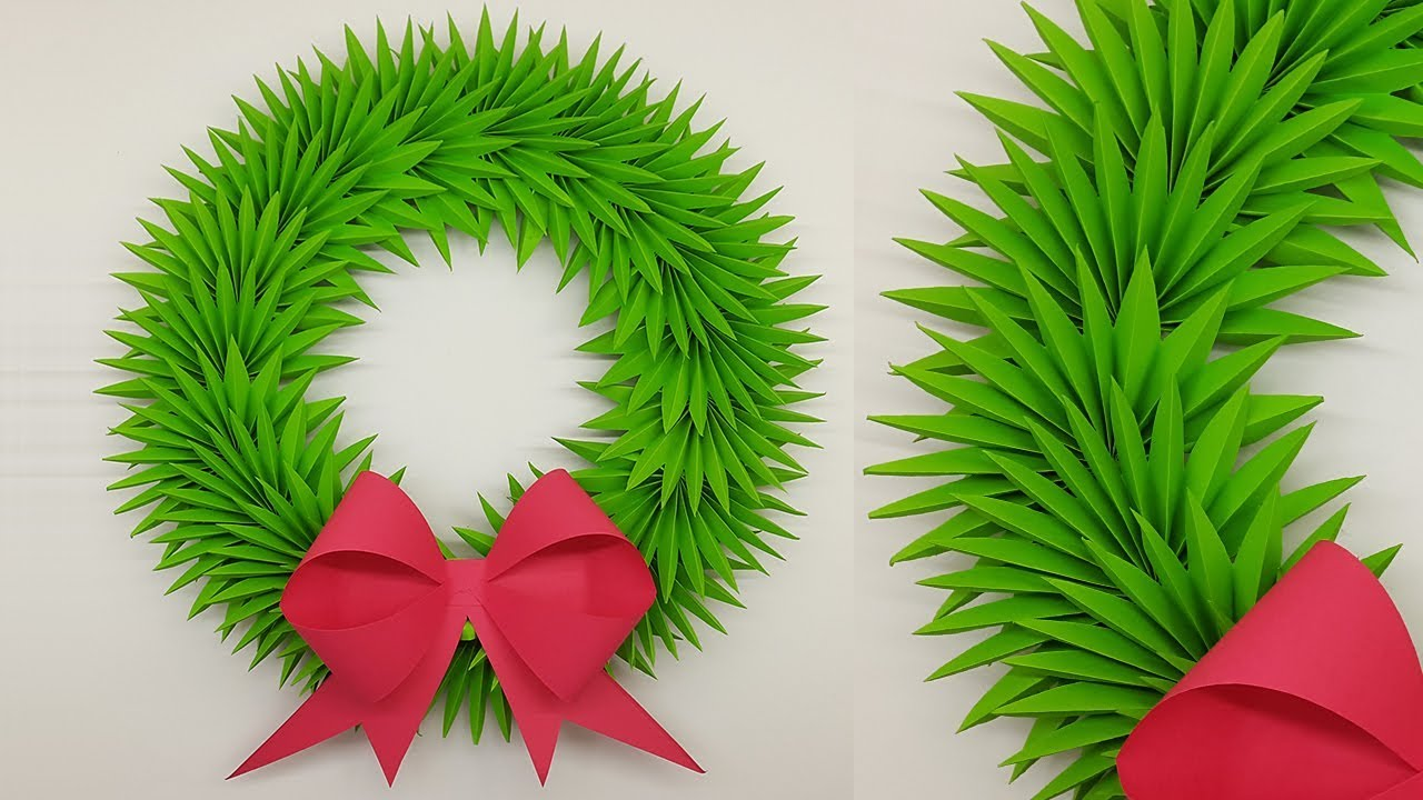 Paper Wreath For Christmas Decorations Ideas How To Make
