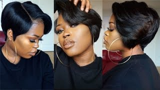 DIY| 27 Piece & A Lace Frontal Tapered Bob Wig