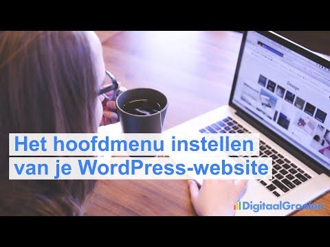 Het menu van je WordPress website instellen