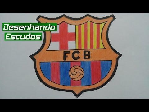Desenhando escudos - Como desenhar o escudo do Barcelona (Fernando)