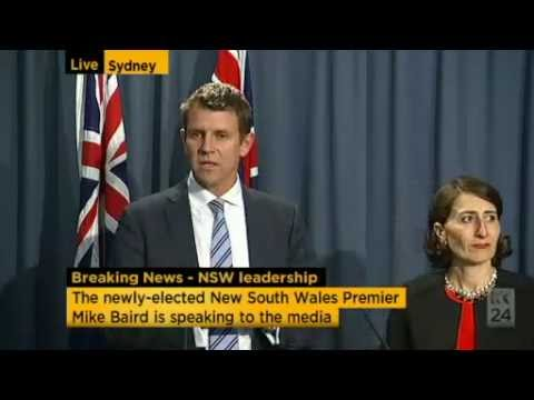 Mike Baird becomes Liberal leader and Gladys Berejiklian deputy leader