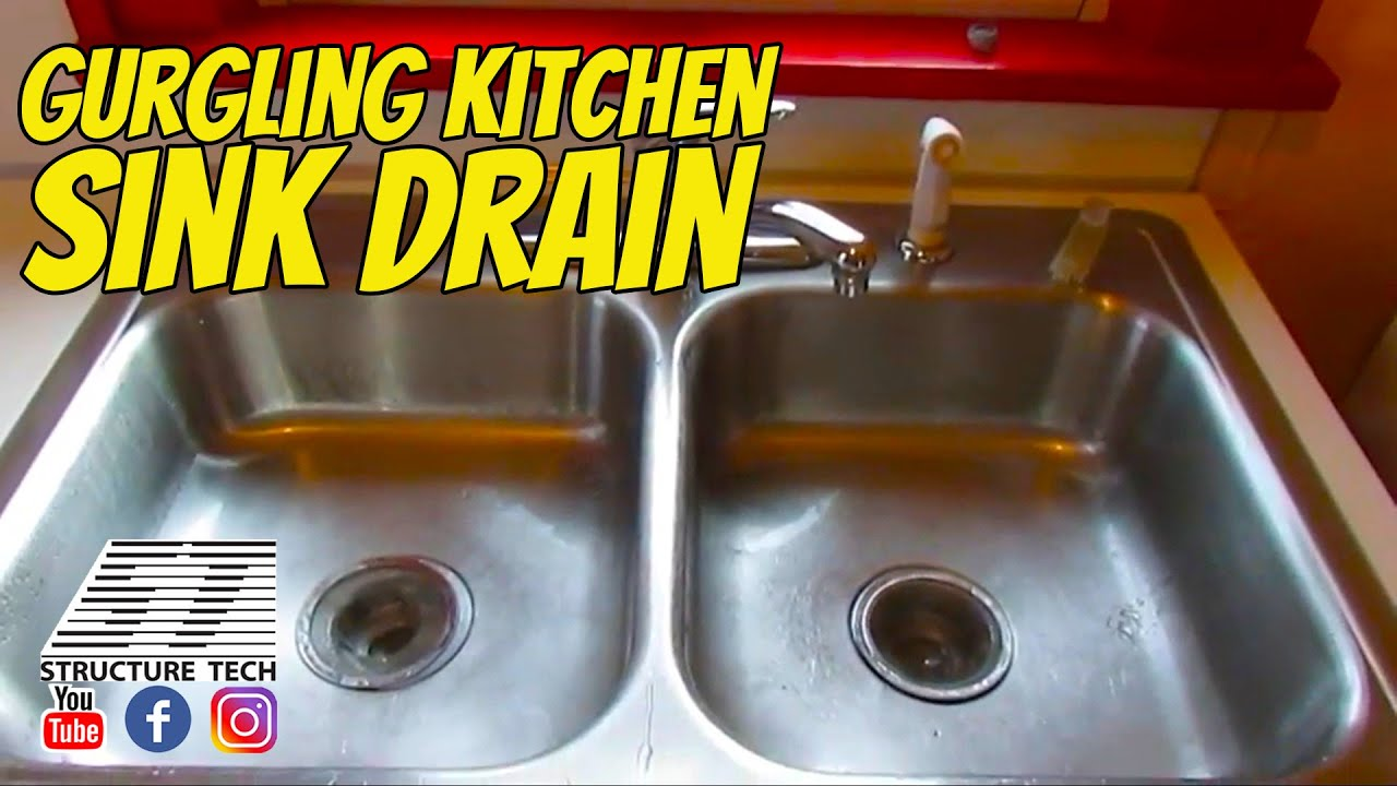 Gurgling kitchen sink drain in Minneapolis home inspection - YouTube