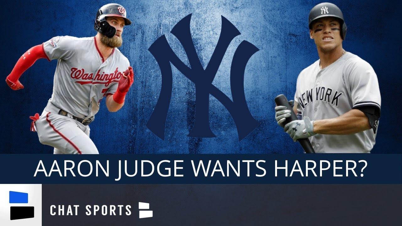 42ada4145 Yankees Rumors  Aaron Judge Wants Bryce Harper