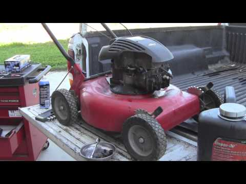 Fixing a Hydrolocked LawnMower - Murray 4.75HP Briggs and Stratton