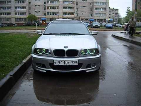 bmw e46 coupe angel eyes with strobe youtube. Black Bedroom Furniture Sets. Home Design Ideas