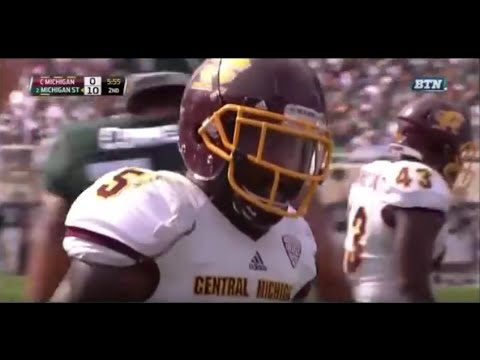 Kavon Frazier - Central Michigan Football - FS - 2015 Michigan State Game