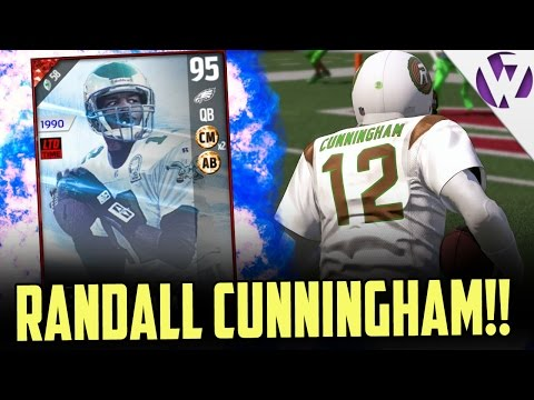 RANDALL CUNNINGHAM DOES IT THROUGH THE AIR & GROUND!!! - MADDEN 17 RANDALL CUNNINGHAM GAMEPLAY