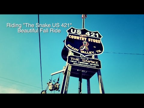 US 421 THE SNAKE FALL RIDE MOTORCYCLE VLOG