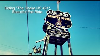 US 421 THE SNAKE FALL RIDE MOTORCYCLE VLOG