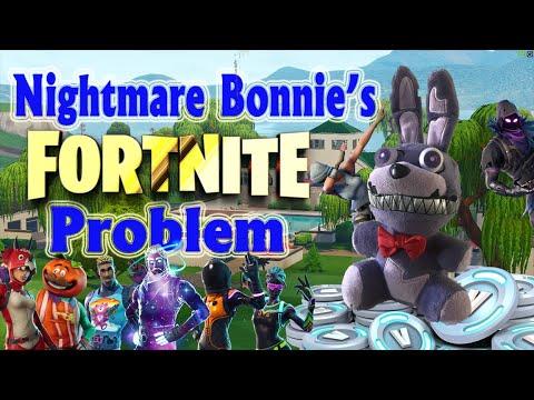 Fnaf Plush - Nightmare Bonnies Fortnite Problem (GW) 13+