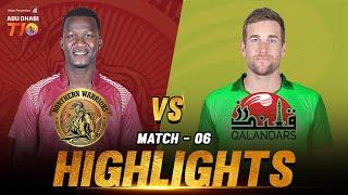 Northern Warriors vs Qalandars I Day 2 Match 6 I Aldar Properties Abu Dhabi T10