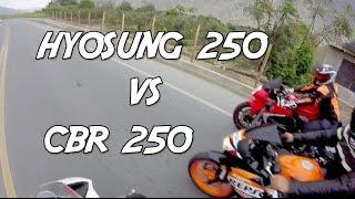 HONDA CBR 250 VS HYOSUNG 250(Bicilindrica)