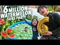 6 MILLION SUBS WATERMELON PARTY!! | Ranz and Niana