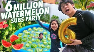 Download Video 6 MILLION SUBS WATERMELON PARTY!! | Ranz and Niana MP3 3GP MP4