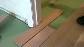 install-floating-wood-floor-under-door-jamb.MP4
