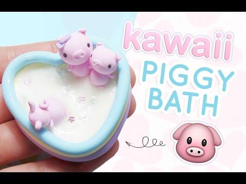Piggy in a Milk Bath Figurine | DIY Polymer Clay Tutorial