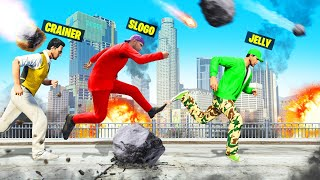 Raining METEORITES In SPEEDRUNNER vs. HUNTERS! (GTA 5)