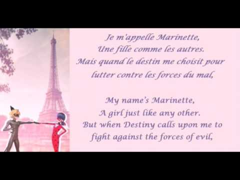 Miraculous Ladybug French lyrics (Fre/Eng)