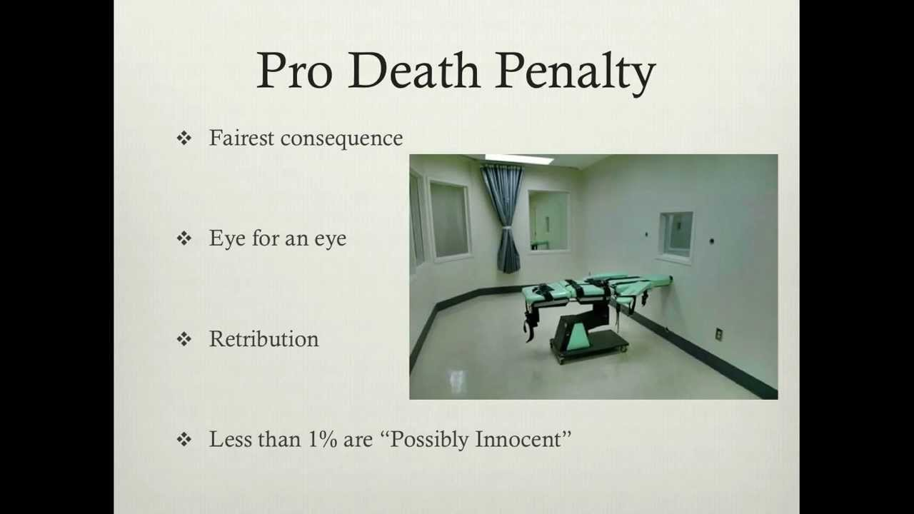 pro death penalty essay One of the most popular topics for an argument essay is the death penalty when researching a topic for an argumentative essay, accuracy is important, which means the quality of your sources is important if you're writing a paper about the death penalty, you can start with this list of sources, which provide arguments for all sides of the topic.
