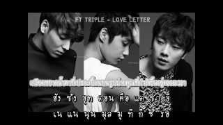 [Karaoke & Thaisub] FT.Triple - Love Letter