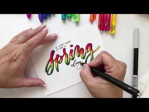 Lettering and Blending Using Papermate Inkjoy Gel Pens
