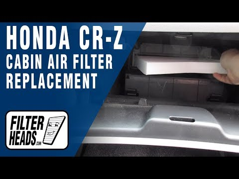How to Replace Cabin Air Filter 2013 Honda CR-Z