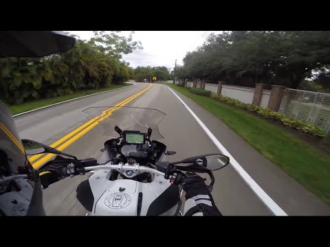 2015 BMW R1200 GS Adventure touring motorcycle ride home from dealer in rain