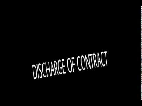 Notes on DISCHARGE OF CONTRACT (LAW)