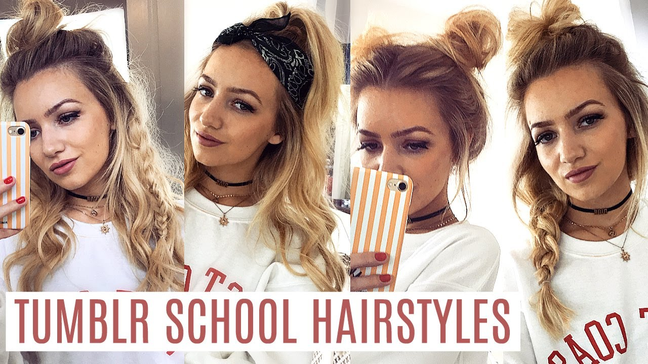 easy tumblr school hairstyles 2017 - youtube