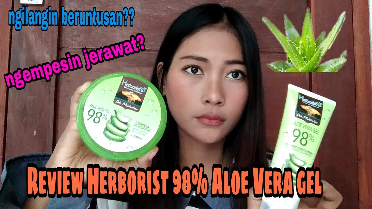 Review Herborist Aloe Vera Gel 98 7 Day Recomended Youtube